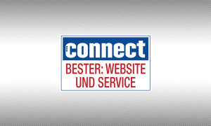 Testsiegel connect Online-Shops Website und Service
