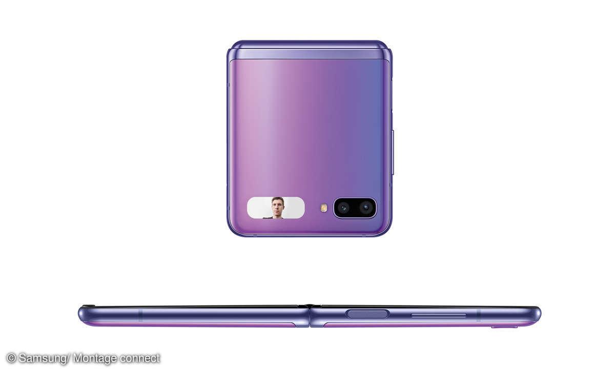 Samsung Galaxy Z Flip zugeklappt Seite
