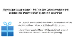 Die 10 GB kann man über die Magenta-App aktivieren