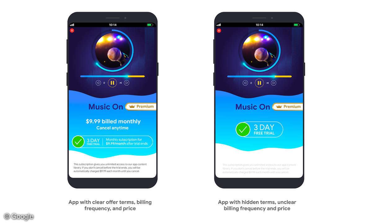 Google Play Store Abo-Richtlinien