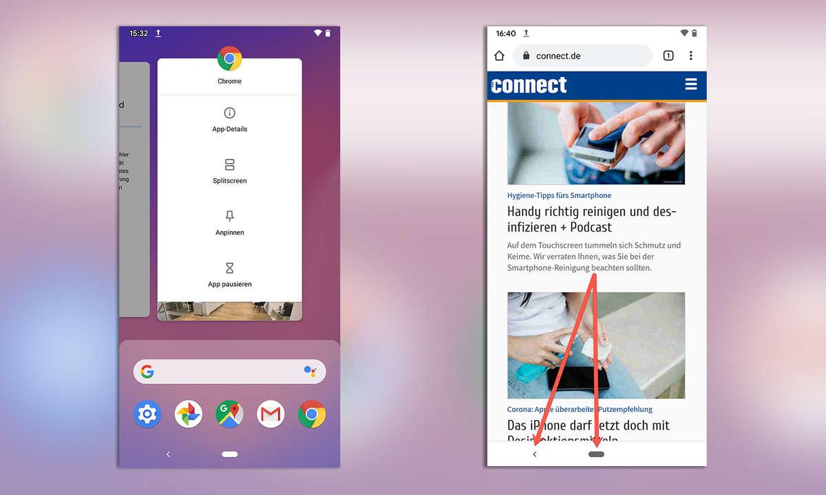 Android Bildschirmfixierung