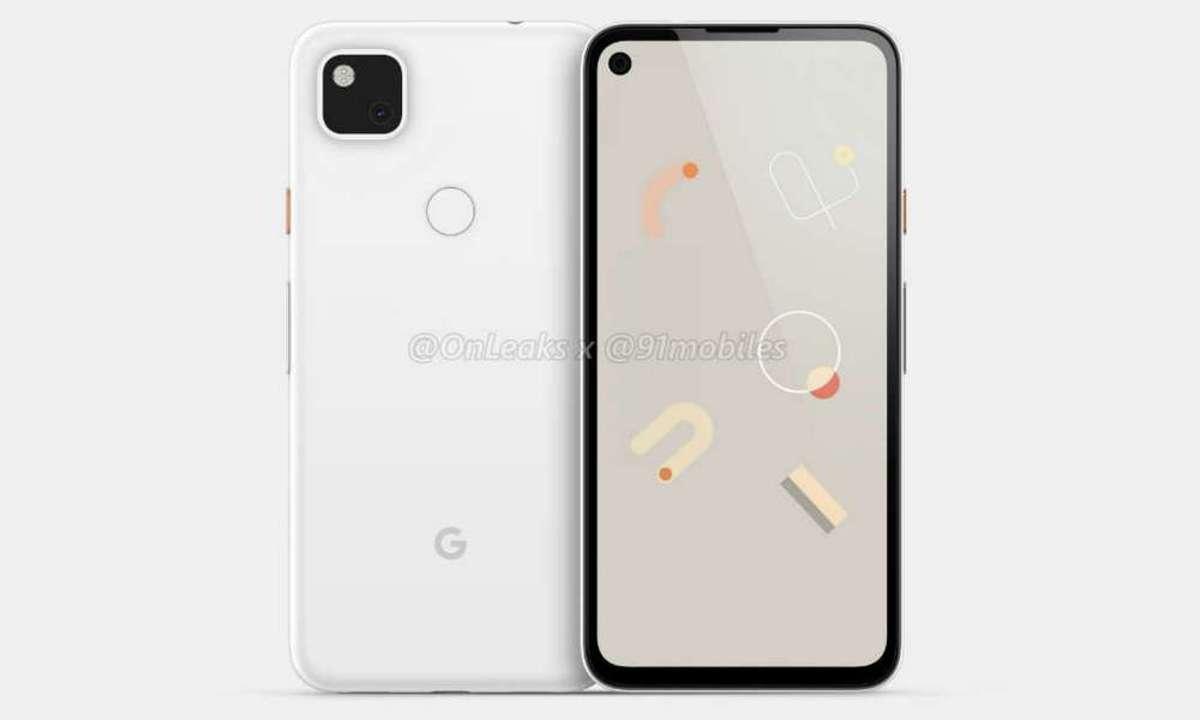Google Pixel 4a render leak