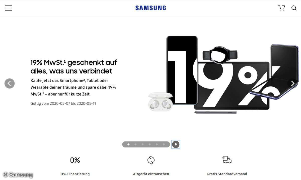 Samsung 19 Prozent Mehrwertsteuer Aktion