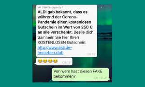 WhatsApp-Kettenbrief Aldi-Gutschein