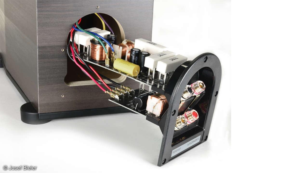 Paradigm 800 F im Test - Bi-Wiring-Terminal