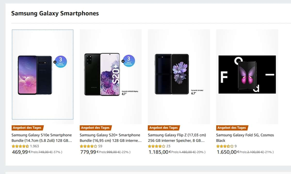 Amazon: Samsung-Smartphones im Angebot