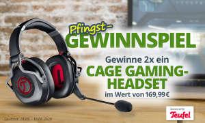 Zusammen mit Teufel verlosen wir zweimal ein CAGE Gaming Headset von Teufel je im Wert von 169,99€.