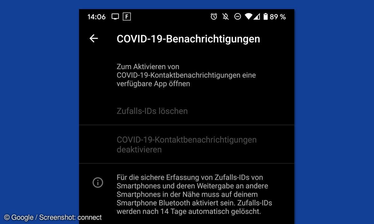 covid-19-benachrichtigungen, android