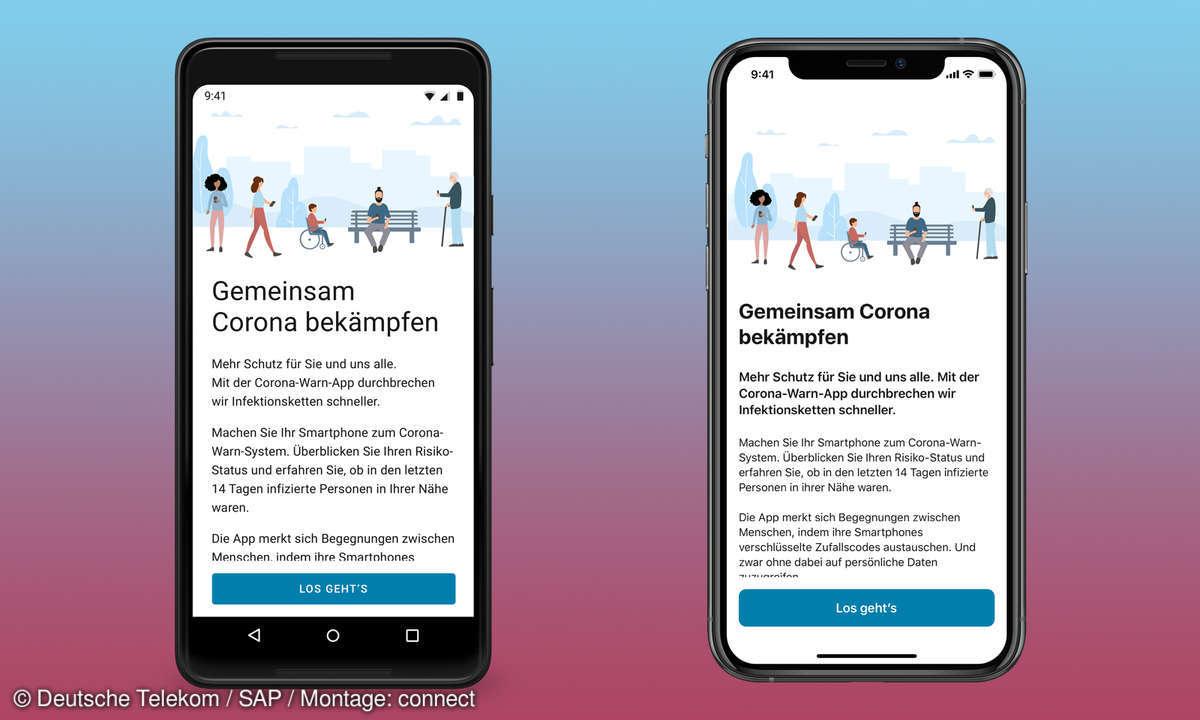 Corona-Warn-App Willkommen Bildschirm