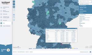 Service-Test - Breitband-Festnetz-Provider: Bandbreiten der Internetanbieter im Test - Regionaler Detailblick Screenshot