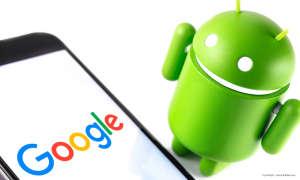 Android mit Google-Logo