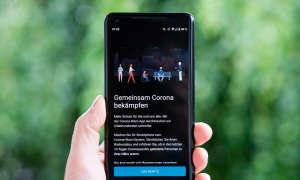 Corona Warn App Startbildschirm