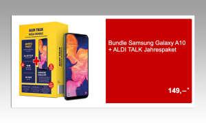 Galaxy A10 im Bundle mit Aldi Talk Jahrespaket