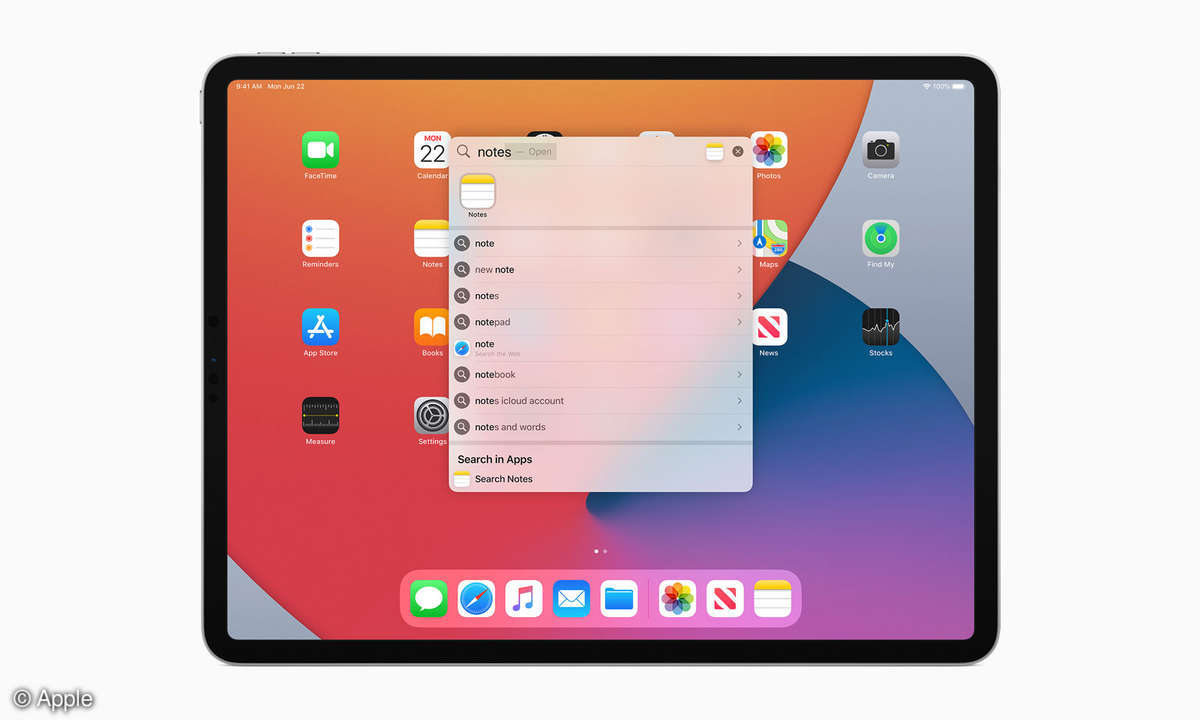 Apple iPadOS 14 Suche