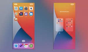 iOS 14 Homescreen