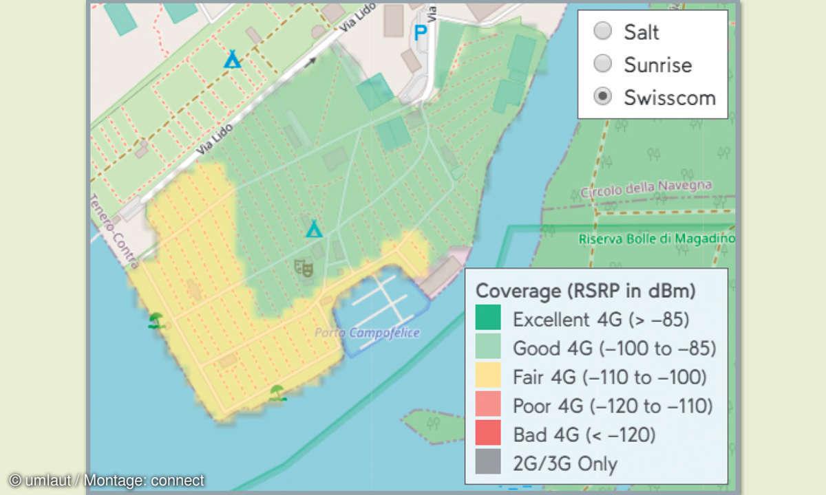 Mobilfunknetztest-Campingplätze: Schweiz - Campofelice Camping Village