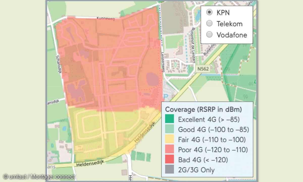Mobilfunknetztest-Campingplätze: Niederlande - Camping De Leistert