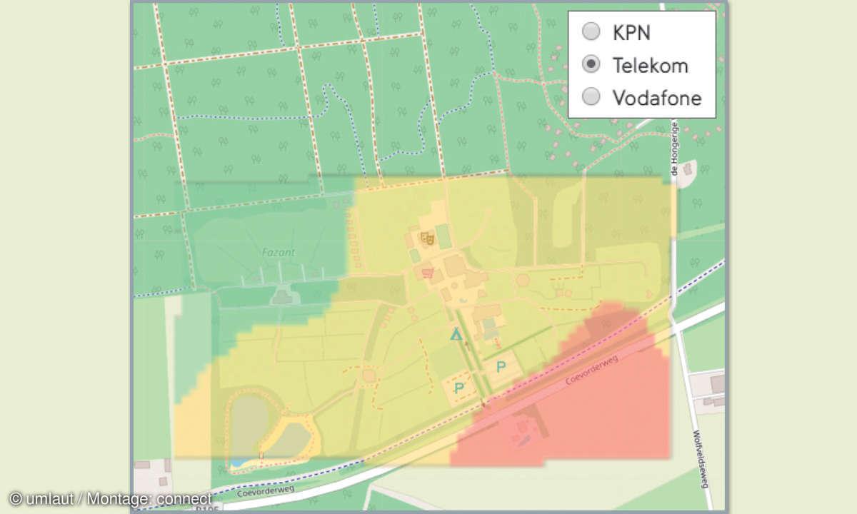 Mobilfunknetztest-Campingplätze: Niederlande - Camping De Kleine Wolf