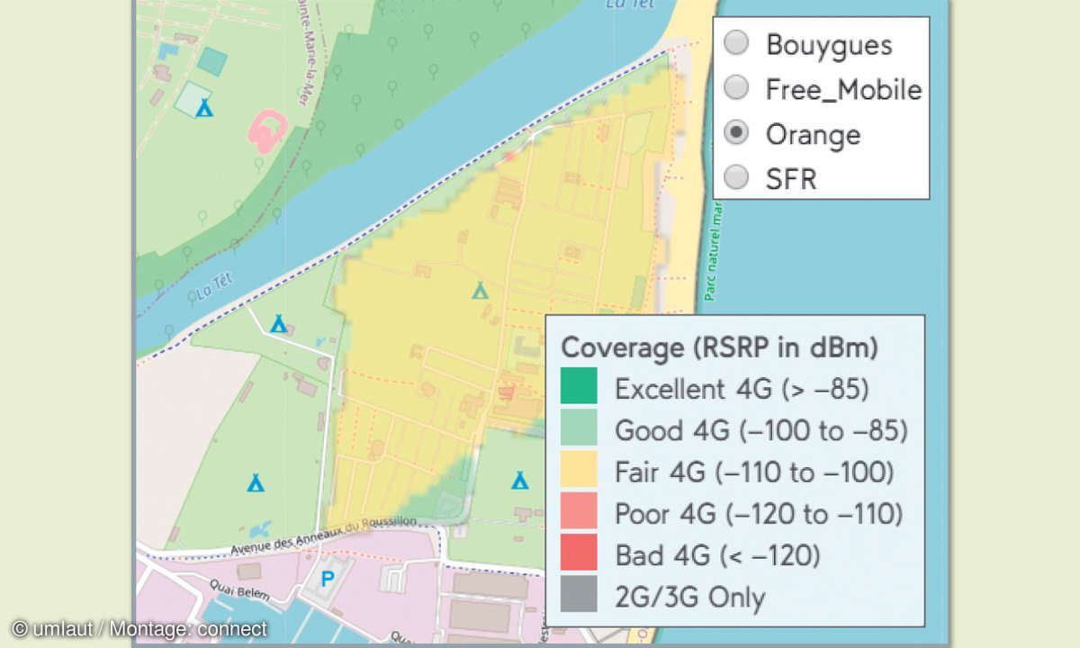 Mobilfunknetztest-Campingplätze: Frankreich - Yelloh! Village Le Brasilia