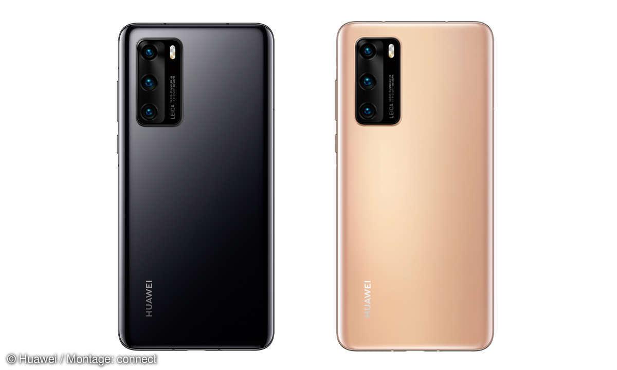 Huawei P40 im Test - Farben Blush Gold & Black