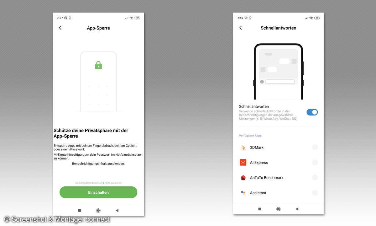Xiaomi Redmi Note 9 Pro im Test - Screenshots Apps