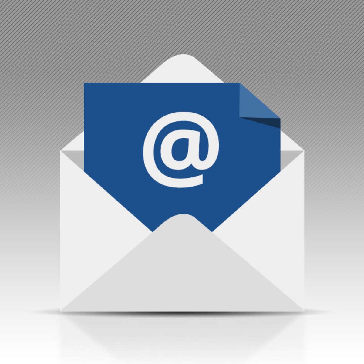 Brief mit E-Maillogo
