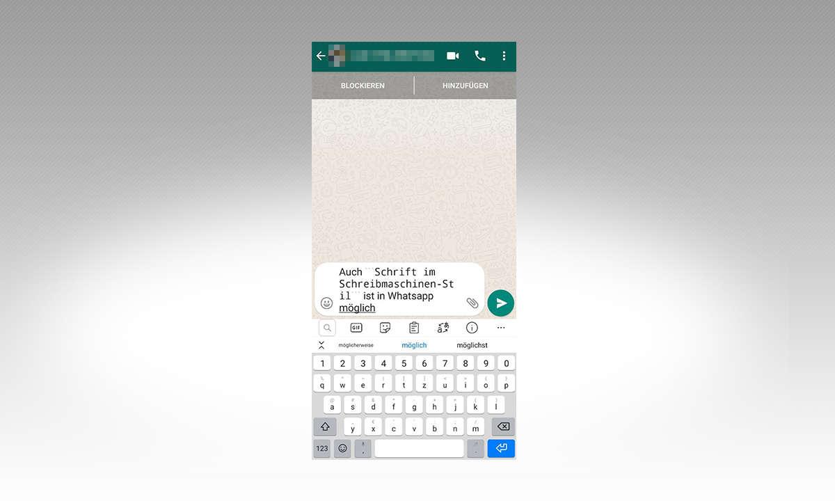 Whatsapp Schriftart Schreibmaschine