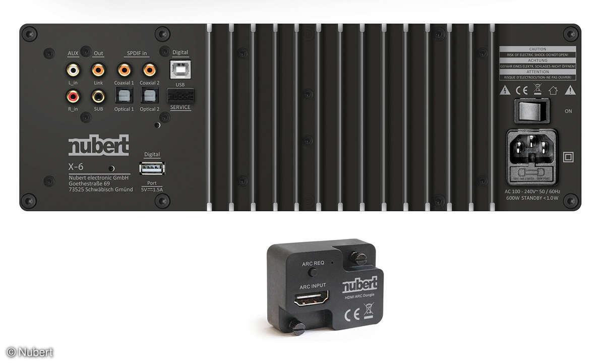 Nubert NuPro XS-7500 im Test: Anschlüsse