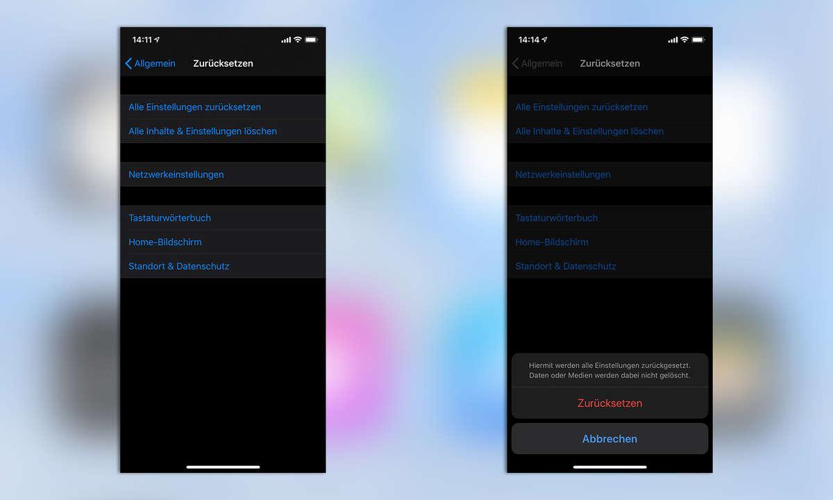 iPhone Einstellungen zurücksetzen
