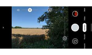 Google Pixel 4a Screenshot Kameraoberfläche
