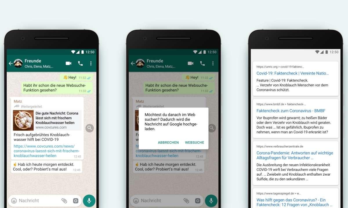 Whatsapp-Update: Websuche
