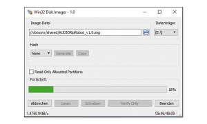 Win32DiskImager Screenshot