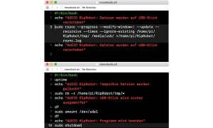 Audio-Rip-Robot Screen Python Script-Kopiervorgang Shutdown