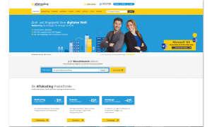 Webhosting-Anbieter Alfahosting Screenshot