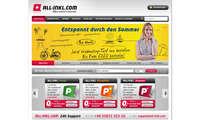 Webhosting-Anbieter Allinkl Screenshot