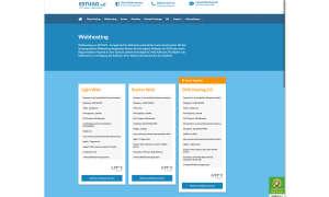 Webhosting-Anbieter Estugo Screenshot
