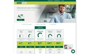 Webhosting-Anbieter DomainFactory Screenshot