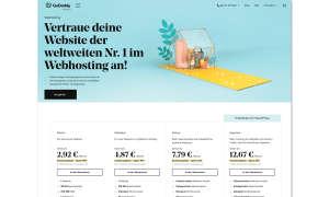 Webhosting-Anbieter GoDaddy Screenshot