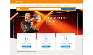 Webhosting-Anbieter Strato Screenshot