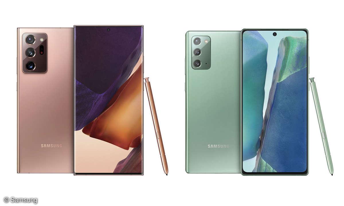 Samsung Galaxy Note 20 Ultra und Galaxy Note 20