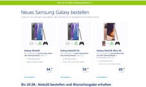 O2-Verträge mit Samsung S20(+/Ultra)
