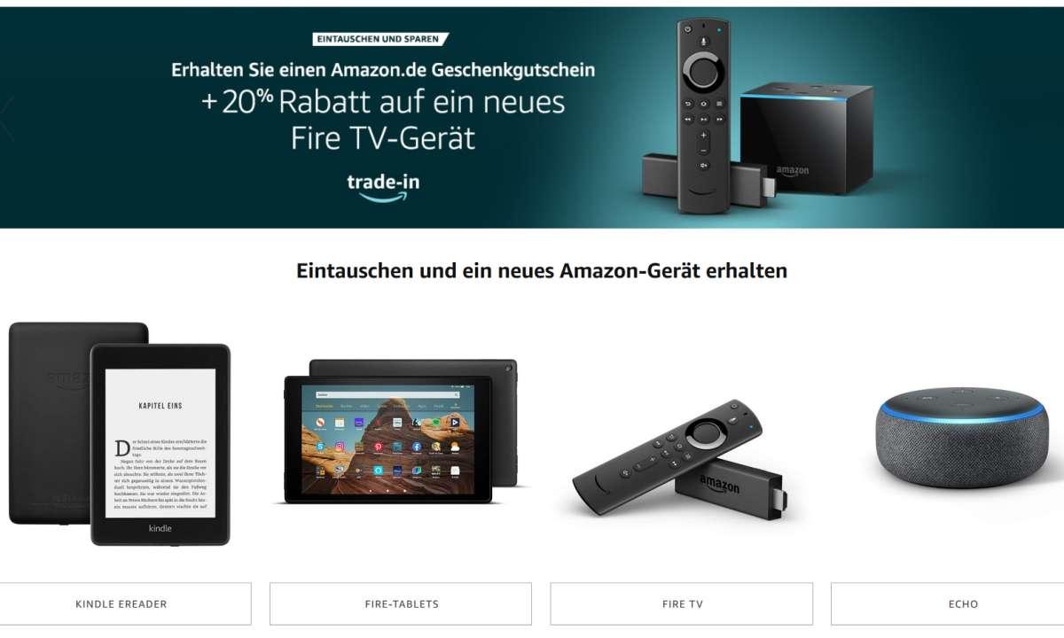 Amazon: Trade-In-Programm
