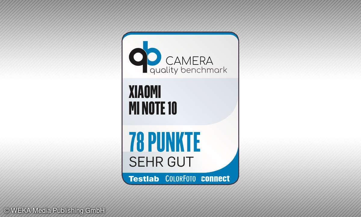 Testsiegel camera quality benchmark Xiaomi Mi Note 10