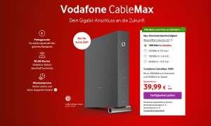 Vodafone Cablemax bietet bis zu 1 Gbit im Download für 40 Euro.