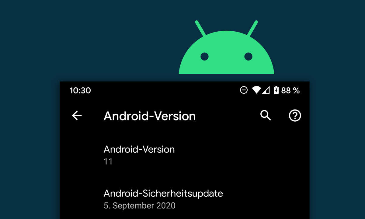 Aktuelle Android Version
