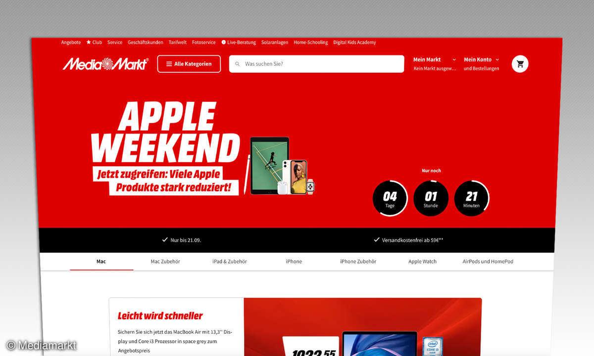 Apple Weekend bei Mediamarkt