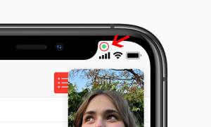 iOS14 grüner Punkt Kamera-Warnung