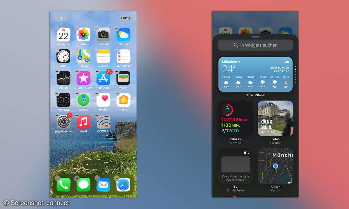 iOS 14 Widgets hinzufügen