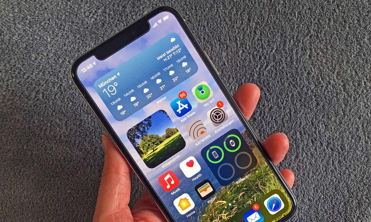 Widgets auf dem iPhone
