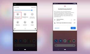 Android 11 Bildschirmaufzeichnung